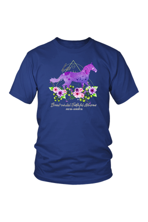Leo Horse Unisex Shirt-T-shirt-teelaunch-District Unisex Shirt-Royal Blue-S-Three Wild Horses