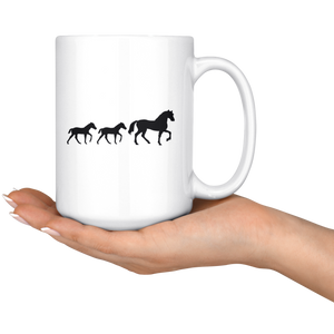 Black Two Foal Mug