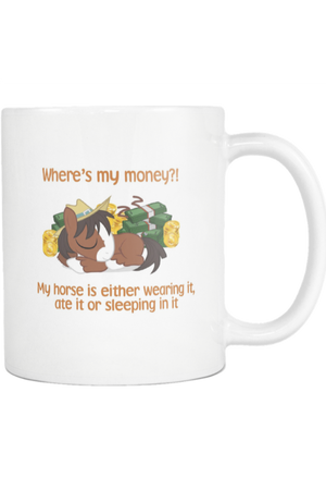 Caren - Mug Training-Drinkware-teelaunch-COFFEE MUG 11 OZ-Three Wild Horses