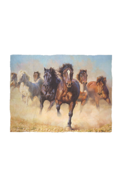 Desert Horses - Fleece Blanket-Blankets-teelaunch-Small-Three Wild Horses