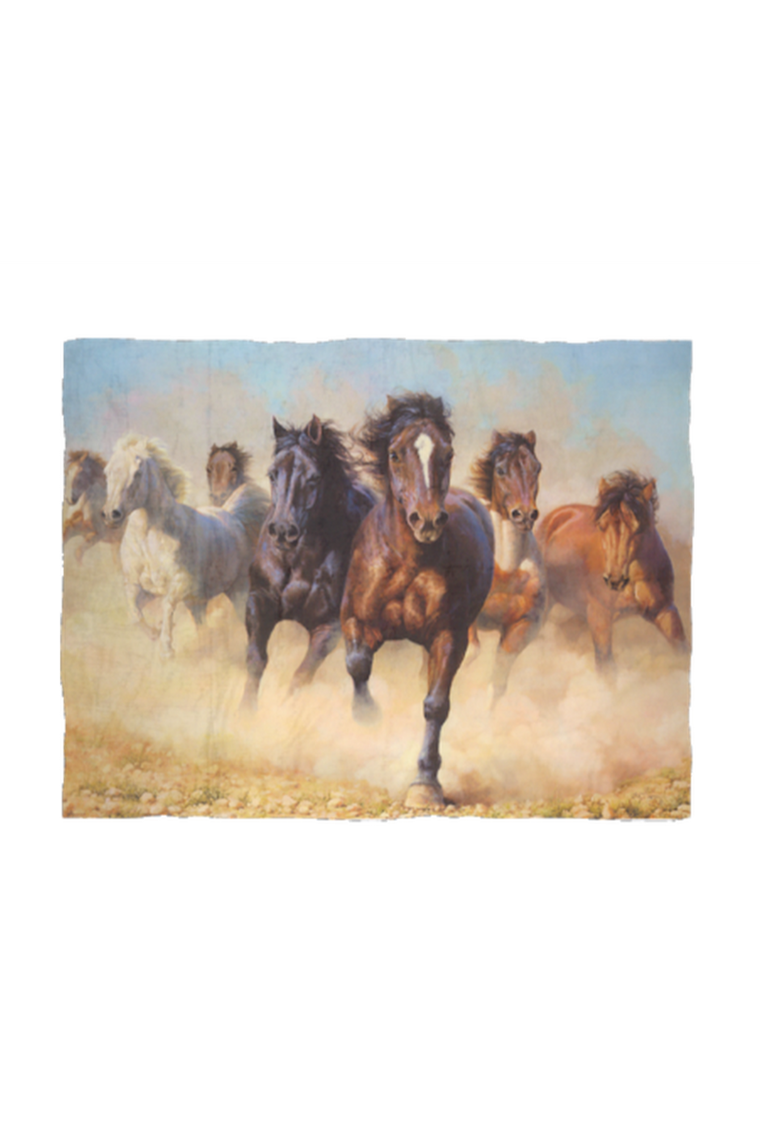 Desert Horses - Fleece Blanket