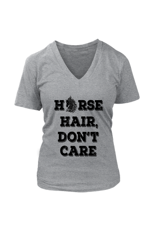 Dark Gray Horse Hair Don't Care T-Shirt