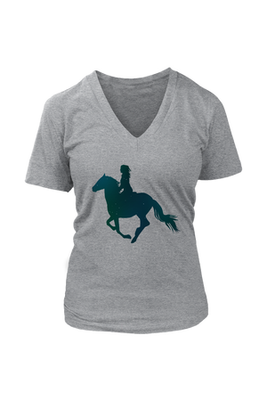 Dark Slate Gray Horse Riding T-Shirt