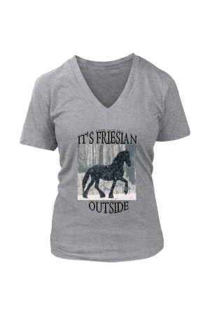 Dark Gray It's Friesian Outside T-Shirt