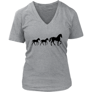 Dark Gray Two Foal - T-Shirt