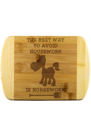 Horse Print Cutting Board-Wood Cutting Boards-teelaunch-Round Edge Cutting Board-Three Wild Horses