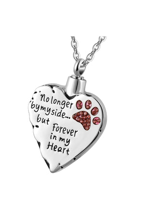 Lavender Dog/Cat Paw Print Memorial Necklace