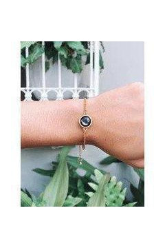 Moon Phase Gold Plated Pallene Bracelet-Bracelet-moonglow-Three Wild Horses