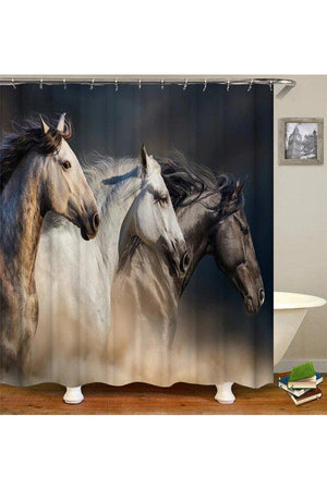 Rosy Brown Horse Style Shower Curtain