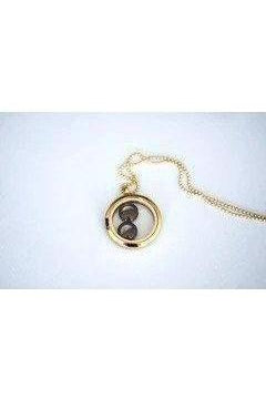 Gold Plated Two Moon Phases Necklace-Necklace-moonglow-Three Wild Horses
