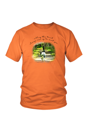 The Trail Always Rise - Tops-T-shirt-teelaunch-Unisex Tee-Orange-S-Three Wild Horses