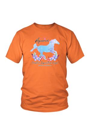 Aquarius Horse Unisex Shirt-T-shirt-teelaunch-District Unisex Shirt-Orange-S-Three Wild Horses