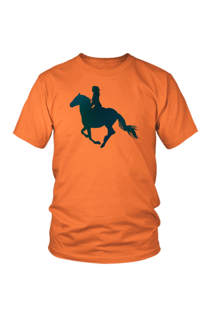 Coral Horse Riding T-Shirt
