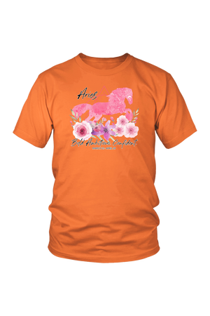 Aries Horse Unisex Shirt-T-shirt-teelaunch-District Unisex Shirt-Orange-S-Three Wild Horses