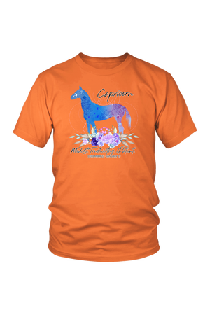 Capricorn Horse Unisex Shirt-T-shirt-teelaunch-District Unisex Shirt-Orange-S-Three Wild Horses