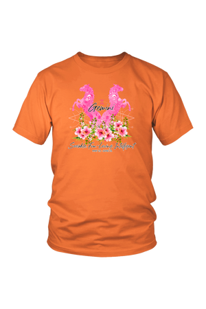 Gemini Horse Unisex Shirt-T-shirt-teelaunch-District Unisex Shirt-Orange-S-Three Wild Horses