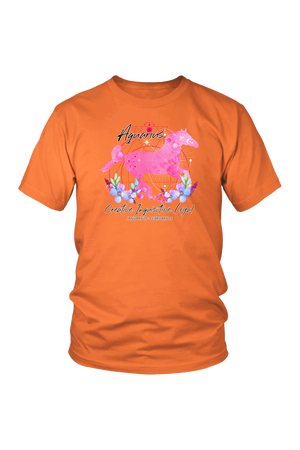 Aquarius Zodiac Horse Unisex Shirt-T-shirt-teelaunch-District Unisex Shirt-Orange-S-Three Wild Horses
