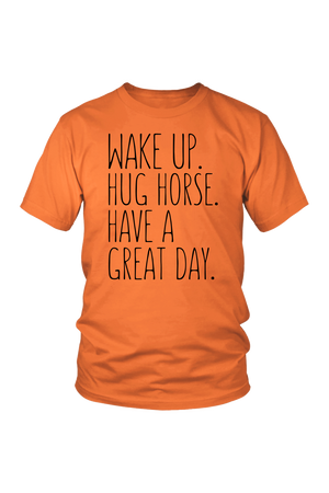 Tomato Hug Horse Have A Great Day Horse T-Shirt
