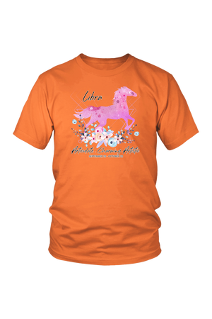 Libra Horse Unisex Shirt-T-shirt-teelaunch-District Unisex Shirt-Orange-S-Three Wild Horses