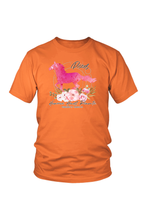 Pisces Horse Unisex Shirt-T-shirt-teelaunch-District Unisex Shirt-Orange-S-Three Wild Horses