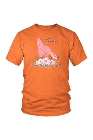 Taurus Horse Unisex Shirt-T-shirt-teelaunch-District Unisex Shirt-Orange-S-Three Wild Horses