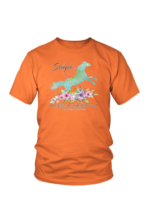 Scorpio Horse Unisex Short-T-shirt-teelaunch-District Unisex Shirt-Orange-S-Three Wild Horses