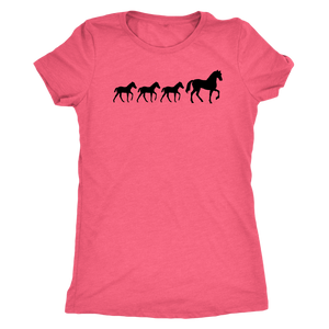 Light Coral Three Foal - T-Shirt