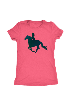 Light Coral Horse Riding T-Shirt