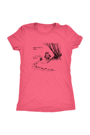 Pooh + Piglet Funny Tops NSFW-T-shirt-teelaunch-Womens Triblend-Vintage Light Pink-S-Three Wild Horses