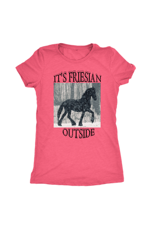 Light Coral It's Friesian Outside T-Shirt