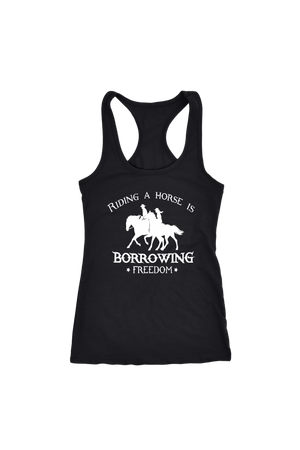 Black Riding A Horse - Borrowing Freedom T-Shirt in Black