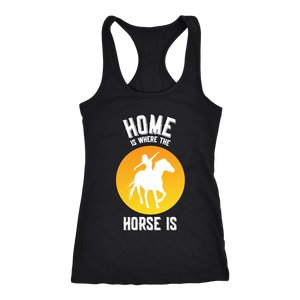Goldenrod Home is Where The Horse Is - T-Shirt in Black
