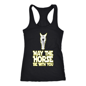 Black May The Horse Be With You T-Shirt in Black