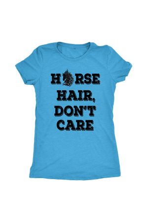 Cornflower Blue Horse Hair Don't Care T-Shirt