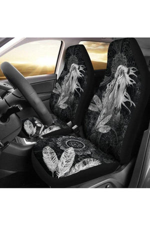 Free Spirit Horse Car Seat Cover-Car Seats Covers-Pillow Profits-Universal Fit-Three Wild Horses