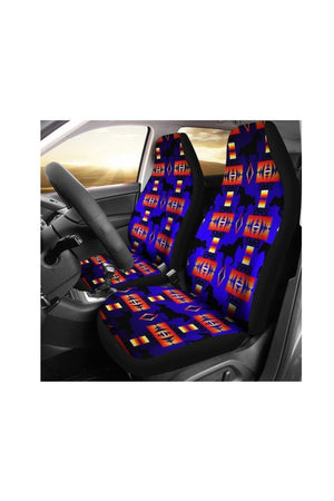 Seven Tribes Blue Horse Car Seat Cover-Car Seats Covers-Pillow Profits-Universal Fit-Three Wild Horses