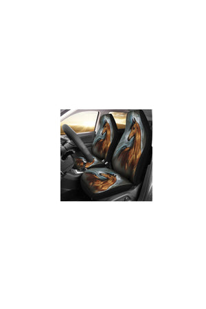 Horse Spirit Car Seat Cover-Car Seats Covers-Pillow Profits-Universal Fit-Three Wild Horses