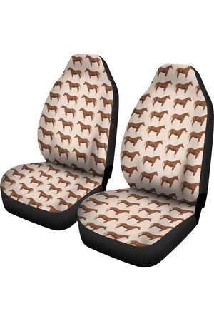 Brown Horse Car Seat Cover-Car Seats Covers-Pillow Profits-Universal Fit-Three Wild Horses