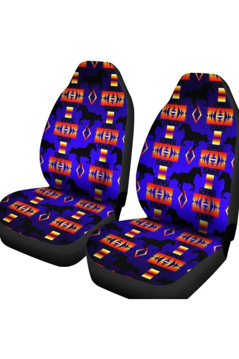 Seven Tribes Blue Horse Car Seat Cover
