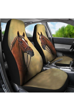 Horse Head Car Seat Covers-Car Seats Covers-Pillow Profits-Universal Fit-Three Wild Horses