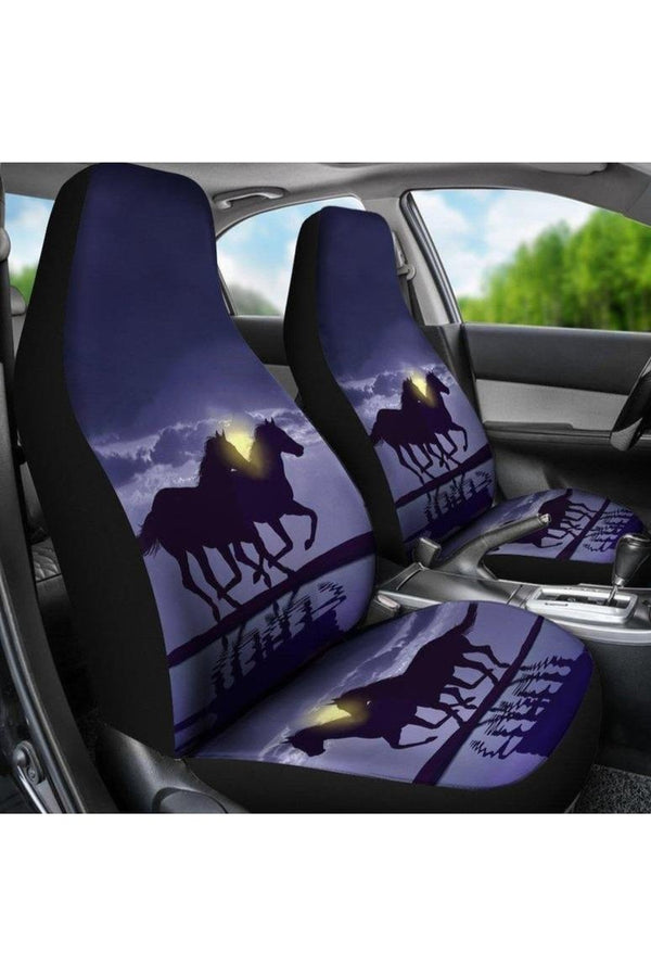 Horse in the Night Car Seat Cover-Car Seats Covers-Pillow Profits-Universal Fit-Three Wild Horses