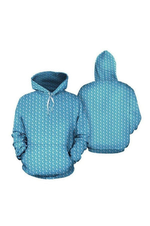 Sky Blue Horse Hoodies-Hoodies-Pillow Profits-Men's Hoodie-S-Three Wild Horses