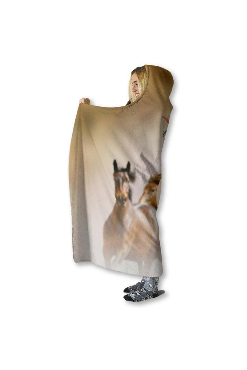 Horse Hooded Blanket Left View