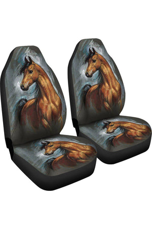 HORSE SPIRIT CAR SEAT COVERS-Three Wild Horses-HORSE SPIRIT CAR SEAT COVERS-Three Wild Horses