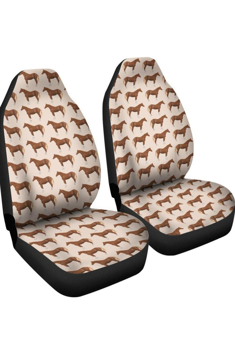 Brown Horse Car Seat Cover Left View