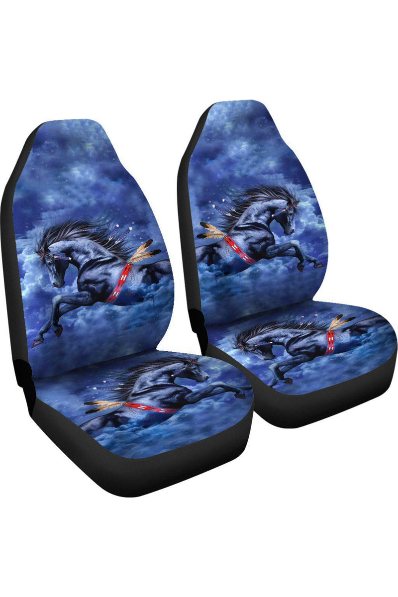 Blue Horse Car Seat Cover Left View