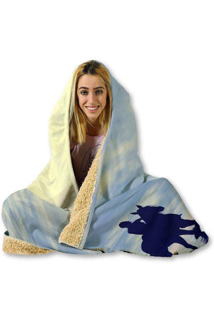 "Sunset Horse Hooded Blanket-Blankets-Pillow Profits-Hooded Blanket-Adult 80""x60""-Three Wild Horses"