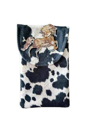 Wild Stallion Cell Phone Bag Black + White-Bags-Three Wild Horses-Three Wild Horses