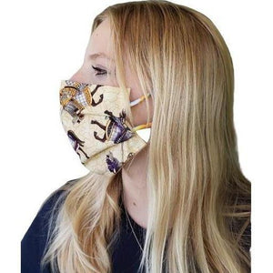Horse Theme Face Mask + Knights-Health & Wellness-Three Wild Horses-Three Wild Horses