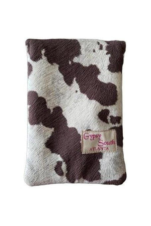 Wild Stallion Cell Phone Bag Chocolate + White-Bags-Three Wild Horses-Three Wild Horses